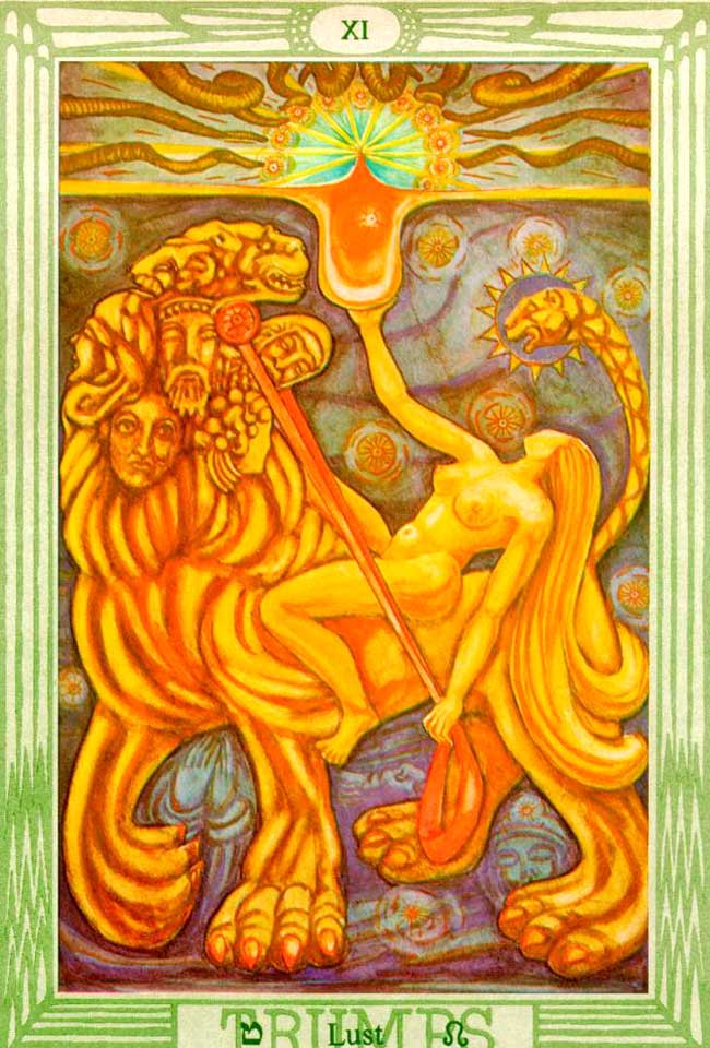 Lust - Thoth Tarot Card