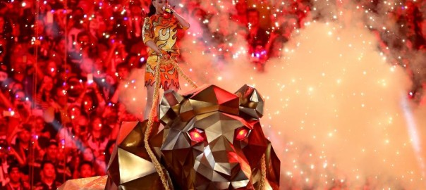 Katy Perry Super Bowl 49 Animatronic Lion