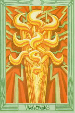 Ace of Wands Thoth Tarot Card
