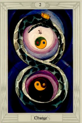 Change Two of Disks Thoth Tarot Card