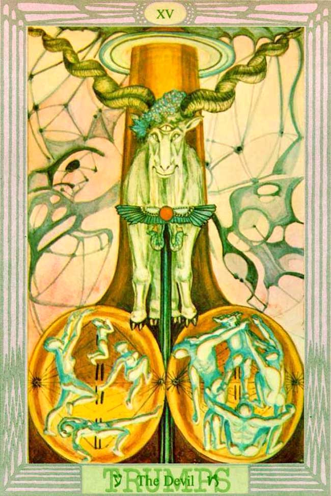 Devil Thoth Tarot Card