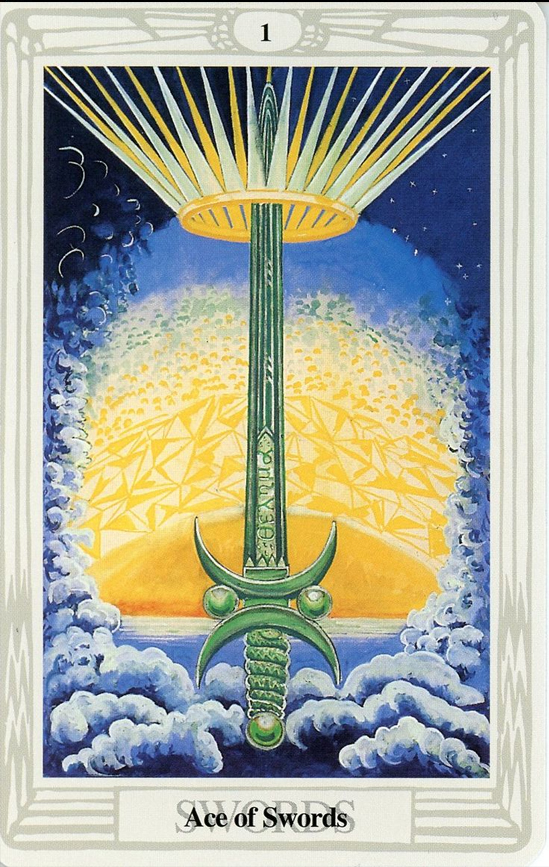Ace of Swords - Thoth Tarot Card