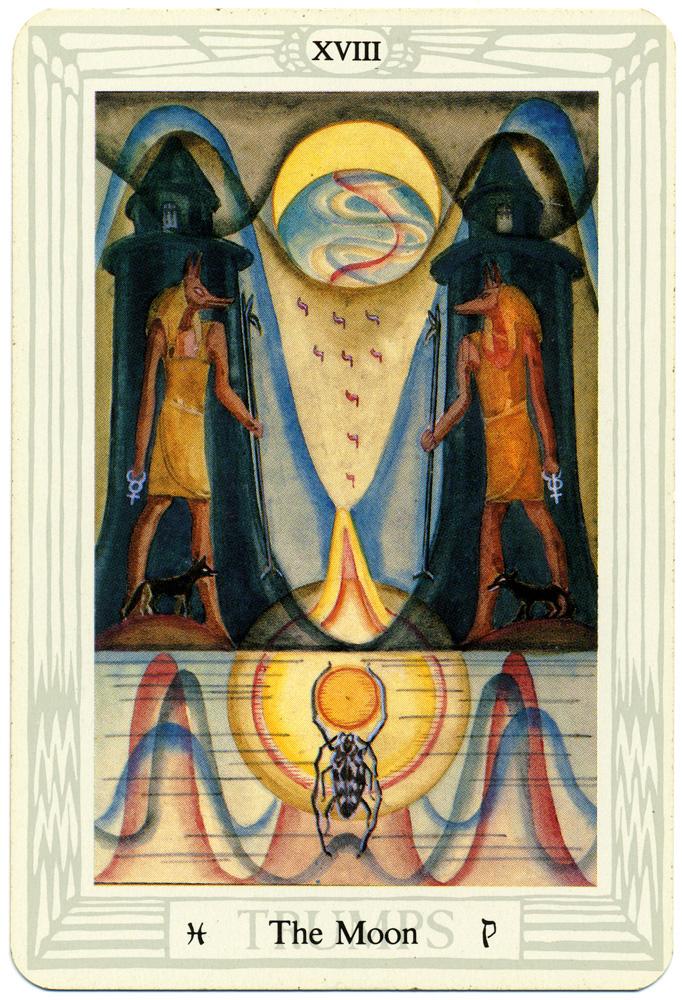 Thoth Tarot Card - The Moon
